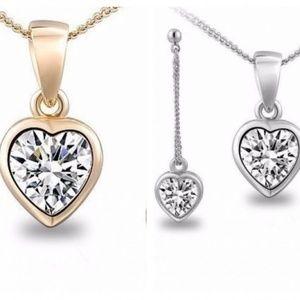 Heart Austrian Crystal Earrings